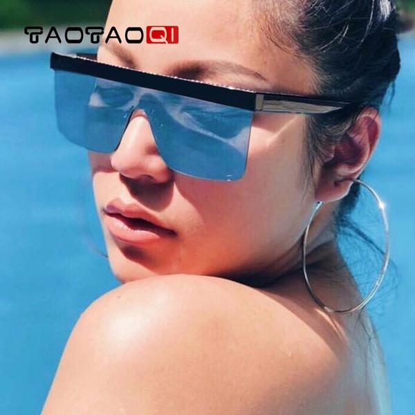Großhandel randlose übergroßen sonnenbrille frauen vintage luxusmarke sonnenbrille für weibliche großen rahmen männlich shades eyewear oculos