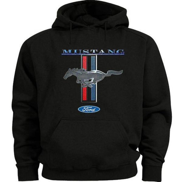 Dimensioni Ford Mustang Felpa con cappuccio da uomo Felpa con cappuccio Mustang Pony Tri Bar