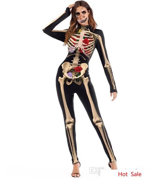 Estructura del cuerpo humano Fiesta de impresión en 3D Disfraces de noche Monos Pantalones pitillo Hombres Mujeres Disfraces de Halloween Cosplay Conjuntos Trajes de fiesta