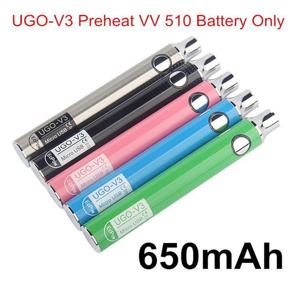 Autêntico UGO V3 Pré-aqueça VV 650mAh