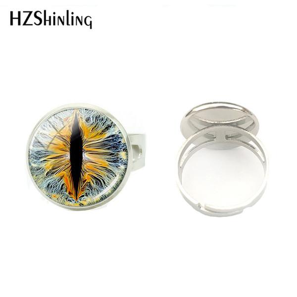 Drago occhi di vetro del Cabochon di 16MM fai da te rotondi Anelli Hand craft Dome Anello gioielli regali