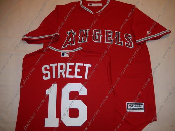 Cheap custom Anaheim HUSTON STREET Baseball JERSEY Red Stitch customize any number name MEN WOMEN YOUTH baseball jersey XS-5XL