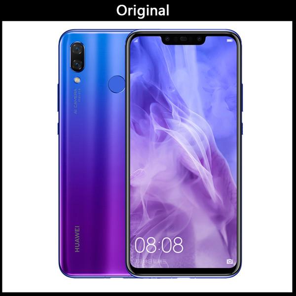 Новый Оригинальный Huawei сверхновых 3 6GB 128GB Android 8.1 Мобильный телефон Kirin 970 Qcta-жильный Двойной передний задняя камера 24.0MP + 2.0MP 24.0MP + 16.0MP