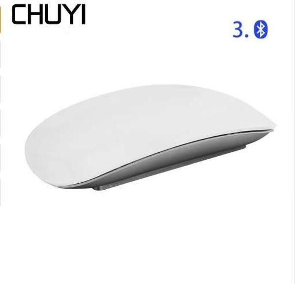 CHUYI Sem Fio Bluetooth Mouse Mágico Magro Arc Touch Mouse Ergonômico Computador USB Óptico Ultra-fino BT 3.0 Ratos Para Apple Mac PC