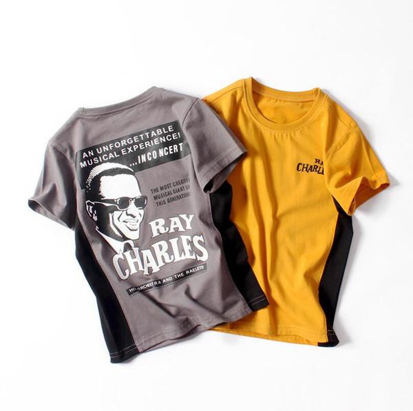 Cool Boys T Shirts New Fashion Print Contrast Color Tshirt Short Sleeve T Shirt Free Shipping