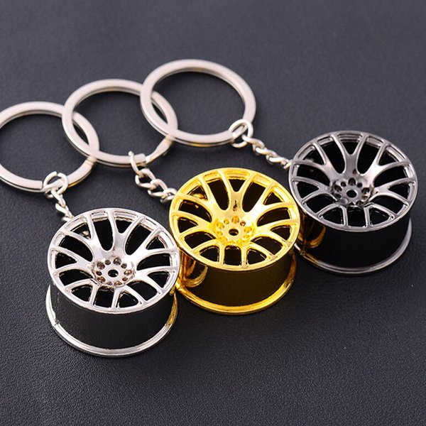 Car modified car wheel model key ring clip key ring pendant personalized car accessories metal key pendant small gifts