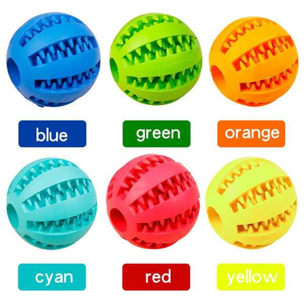 best selling Pet Sof Pet Dog Toys Toy Funny Interactive Elasticity Ball Dog Chew Toy For Dog Tooth Clean Ball Of Food Extra-tough Rubber Ball