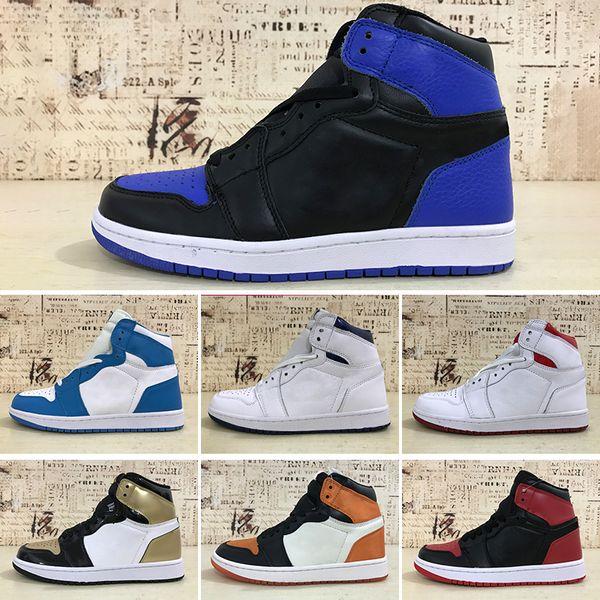 Acheter Nike Air Jordan 1 Jumpman 1 Chaussure De Basket Ball Athlétisme Baskets Chaussure De Course Pour Femmes Sports Torche Lièvre Jeu Royal Pine