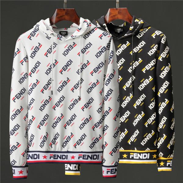 New Mens Hoodies Brand Designer Clothing Homme Hooded Sweatshirts Men Women High Street FF Print Hoodies Pullover Cotton Sweatshirts #6813