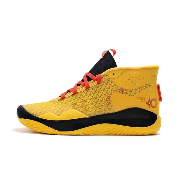 Cheap men kd 12 basketball shoes sale Yellow Black Red Pink N7 BHM boys new arrivals kd12 kevin durant xii sneakers boots with box size 7