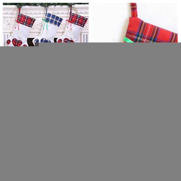 nouvelle patte de chien de Noël Stocks mignon d'arbre de Noël Décorations de bas de Bonbons Sacs cadeaux Décorations Stocking Fournitures T2I5362 Party