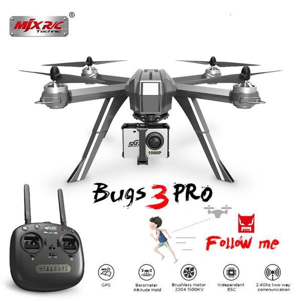 MJX Bugs 3 Pro B3 Pro Rc Drone С 1080 Wifi Fpv камеры Gps Follow Me Режим Бесщеточный Радиоуправляемый вертолет Quadcopter против ошибок 5w T190621