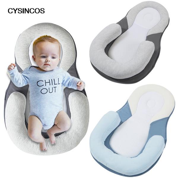 CYSINCOS Baby Stereotypes Cuscino Neonato Materasso antiribaltamento neonato per 0-12 mesi Cuscino di posizionamento del sonno Cuscino in cotone