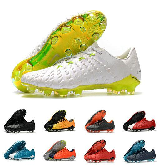 New Original Football Boots Mens Hypervenom Phantom III DF FG High Ankle Soccer Cleats Outdoor Soccer Shoes Many Colors Size 39-45