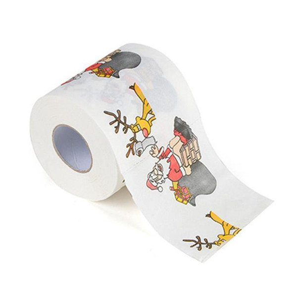 Soft Printing Toilet Tissue Decorative Gift Christmas Paper Roll Restaurant