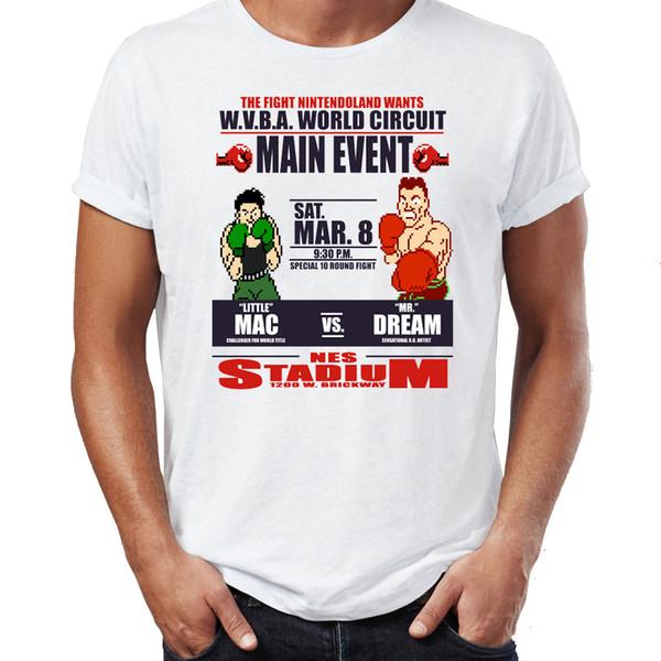 Мужская футболка Punch Out Classic NES Game Удивительная футболка с принтом