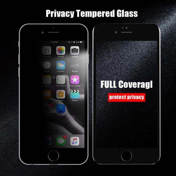 Geeignet für iPhone X XR XS MAXX Papierverpackungen Anti-Peeping-Telefonfolie Hartglas transparente Schutzfolie