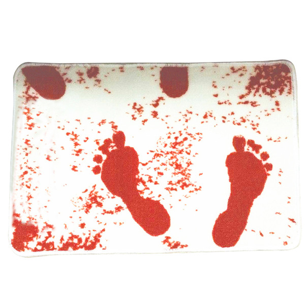 Blood Bloody Footprints Horror Movie Norman Bath Mat Door Carpet non-slip Rugs White