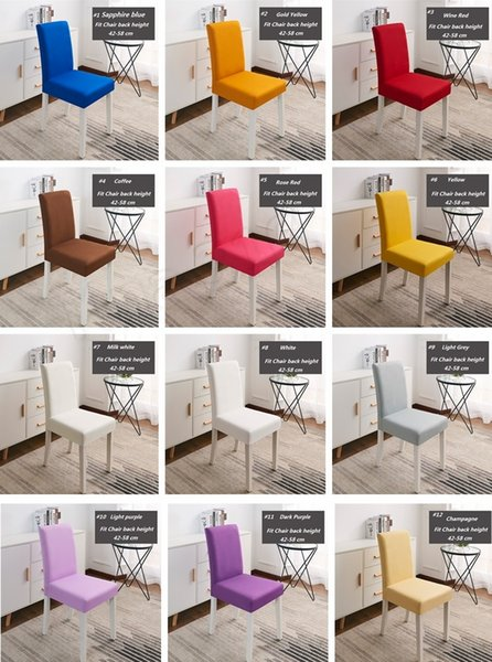 Sensational Newest High Elastic Chair Covers Restaurant Hotel Wedding Dining Room Chair Cover Home Decors Seat Covers Spandex Stretch Banquet I383 Dining Chair Squirreltailoven Fun Painted Chair Ideas Images Squirreltailovenorg