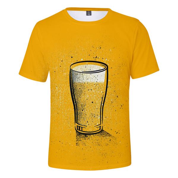 2019 Beer tshirt party wear Harajuku tshirt men drink bear streetwear harajuku Short Sleeve Kpop Beer man Tees Street style