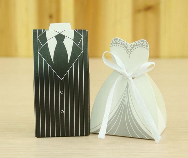 free shipping Wedding Candy Box New fashion Creative candy bag with Suit design Favor Event Gift Party Candy Bags -y
