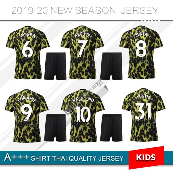 2019 New 2020 Man United 6 Pogba Limited Edition Soccer Jersey 10 Rashford Ea Sports Jerseys Leopard Print Special Version Kids Football Shirts From