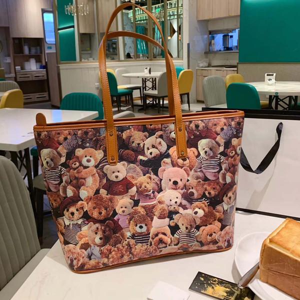 Lady Womens Designer Shoulder Bag Luxury Tote Brand Shoulder Bag Patterns of The Teddy Bears Cute New Arrival B100746Z