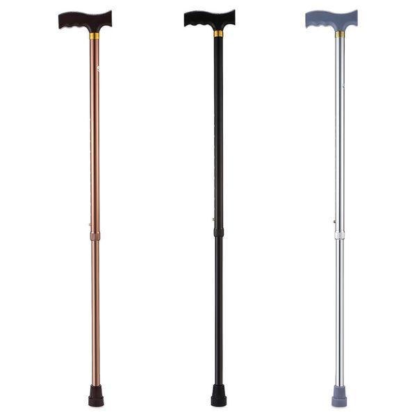 Adjustable Walking Stick Hiking Rubber Tips Cane For Elderly Seniors Disabled Hiking Cane T Handle