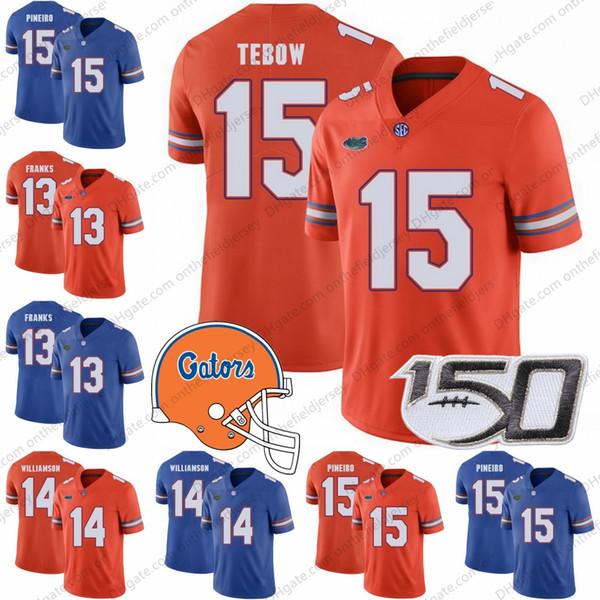 Florida Gators NUEVA MARCA SALTO 150TH # 13 Feleipe Franks 4 Kadarius Toney 2 Lamical Perine 15 Tim Tebow 5 Emory Jones Jerseys NCAA