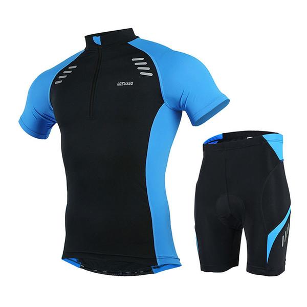 Maglia da ciclismo ARSUXEO uomo manica corta maglia MTB bici bicicletta abbigliamento camicie uniformi