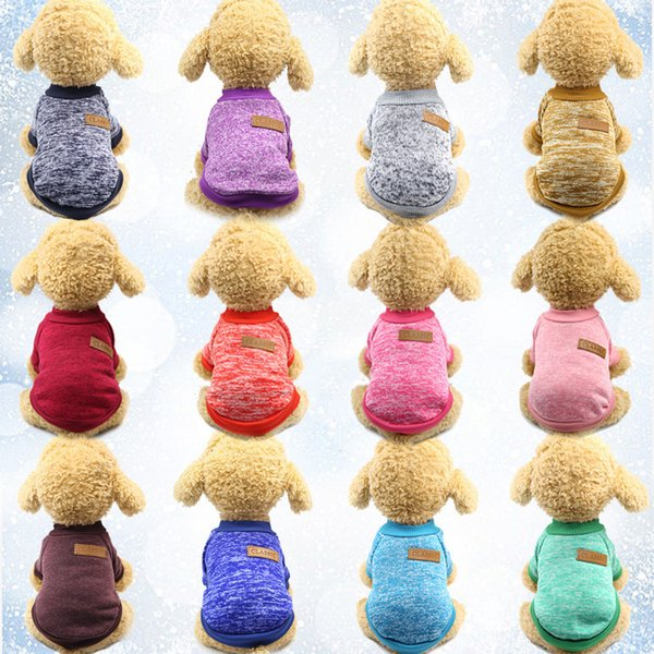 2018 Dog Clothing Puppy Small Dogs Winter Autumn Soft Warm Clothes Pet Sweater Hooded Dogs Chihuahua Clothing Classic Pets Outfit Ropa