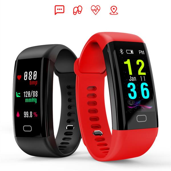Цветной Экран Плавание Фитнес-Трекер Монитор Артериального Давления Smart Watch Спорт Умный Браслет Группа Водонепроницаемый IP68 Браслет