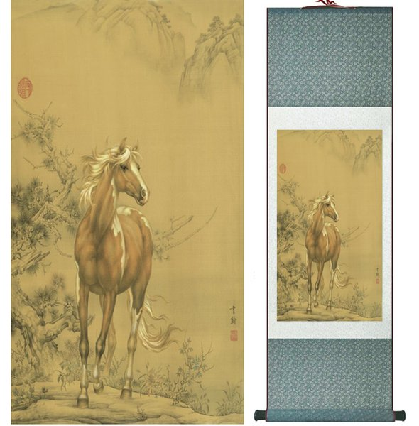 Chinese Traditional Art Painting Art Painting Horse Horse Painting Art Paint Roller 042002.