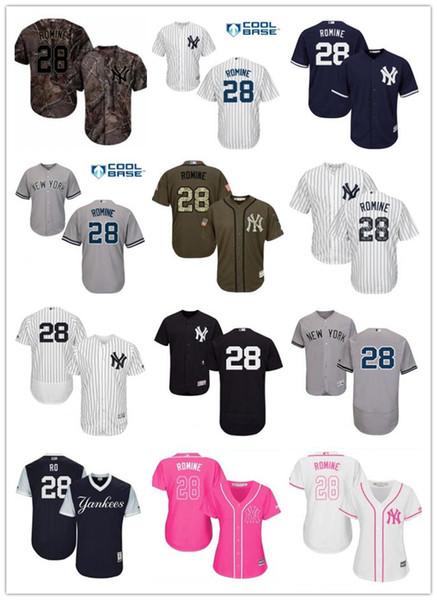 competitive price 4efc0 e730e 2019 Custom New York Men/Women/Youth Yankees 28 Austin Romine El Mago  Program Replica Celtic Flexbase Authentic Baseball Jerseys From  Sportjersey001, ...