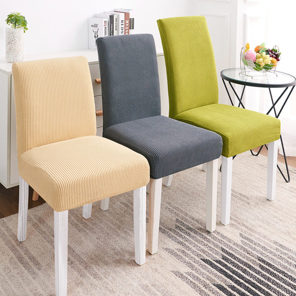 Super Soft Polar Fleece Fabric Chair Cover Elastic Chair Covers Spandex For Kitchen/Wedding Modern Chair Covers Dining Room