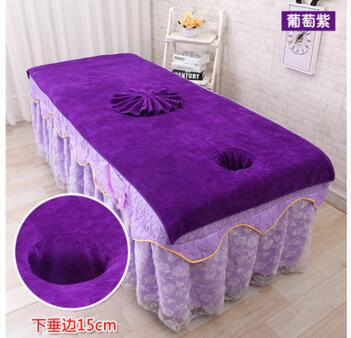 Beauty salon bed towel with hole open hole massage bed physiotherapy linen towel big cotton soft absorbent steaming