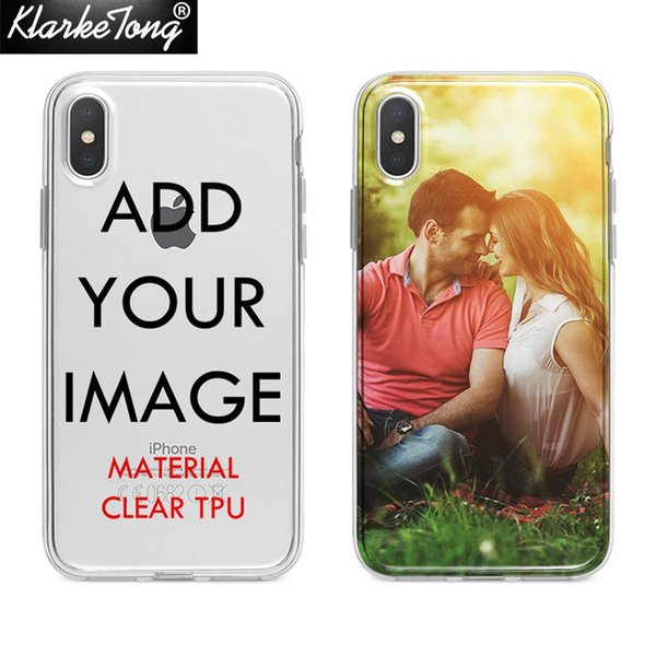 Custom Design DIY Transparente Silicone Case Cover For iPhone XS MAX XR 6 6s 7 8 plus 5S Customized Printing Cell Phone Case