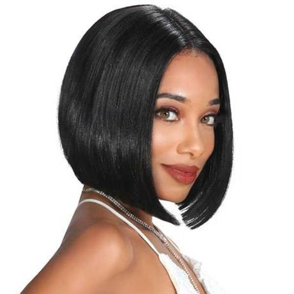 Human Hair Pixie Cut Wigs For Black Women Glueless Unprocessed Peruvian Hair Cheap Short Bob Pixie None Lace Front Wig Middle Part