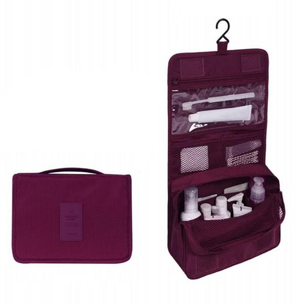 Impermeable de poliéster portátil de viaje bolsa de cosméticos Neceser colgar bolsa de lavado neutral maquillaje bolsa organizador baño