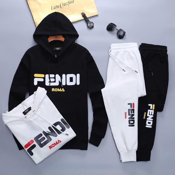 Primavera sportswear designer de moda nova marca e outono homens do hoodie unisex casuais sportswear marca rastreamento terno de alta qualidade'