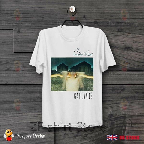 Cocteau Twins Guirlandes Cool Vintage Rock Unisexe T-shirt Femme T-Shirt Fille Top Tee 100% coton