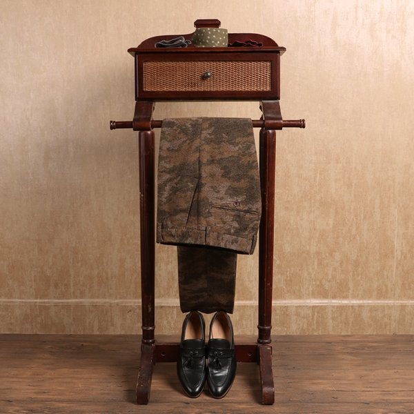 2019 Moda de Lana Meisai Hombres Pantalones Formales Camuflaje Pantalones de Boda de Negocios Padrino de Novias Estilo Occidental Pantalón Novio