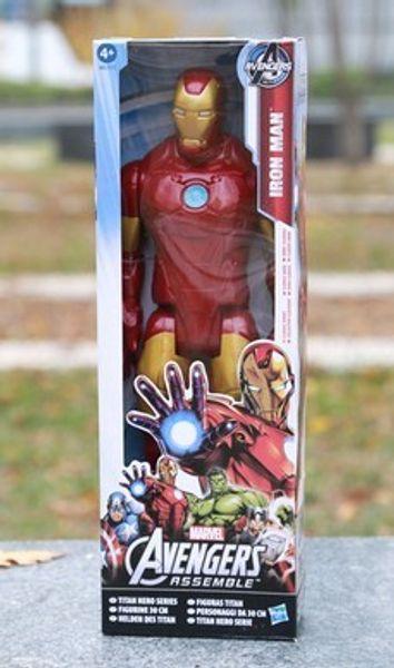 Factory direct sales Avengers PVC Action Figures Marvel Heros 30cm Iron Man Spiderman Captain America Ultron Wolverine Figure Toys
