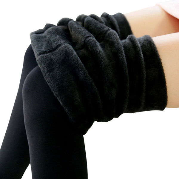 Новая мода женская осень и зима высокая эластичность и хорошее качество толстые бархатные брюки теплые леггинсы тренировки