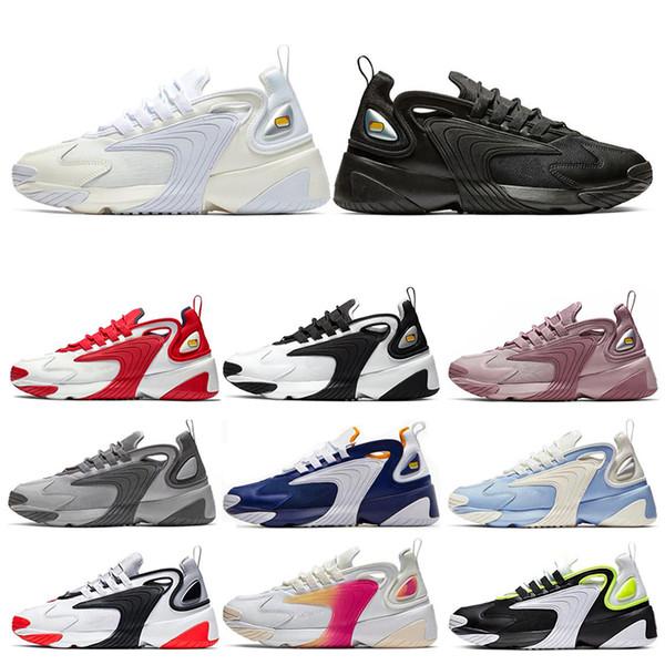 Nike M2k Tekno Zoom 2K Uomo donna Scarpe da corsa Crema Bianco Race Rosso Royal Blue Sport Sneakers Uomo Formatori taglia 36-45