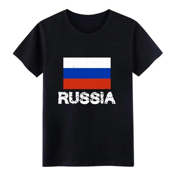 camisa de Rusia orgullo nacional ruso bandera diseño de la camiseta personalizada camiseta del O-Cuello original fitness nuevo estilo del resorte otoño