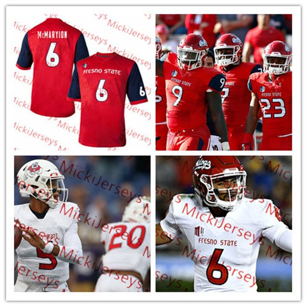 buy online a7c16 06e6c Custom NCAA Fresno State Bulldogs Football Jersey 9 Jeffrey Allison 6  Marcus McMaryion 3 KeeSean Johnson 16 Jared Rice Fresno State Jersey UK  2019 ...
