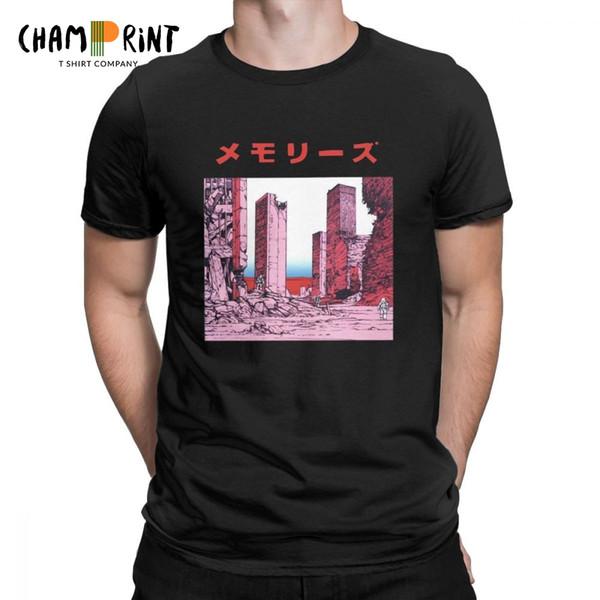 Katsuhiro Otomo Souvenirs T-shirt décontractés pour hommes Akira Manga vaporwave à manches courtes T-shirts Tops cadeau 100% coton ronde T-shirt col