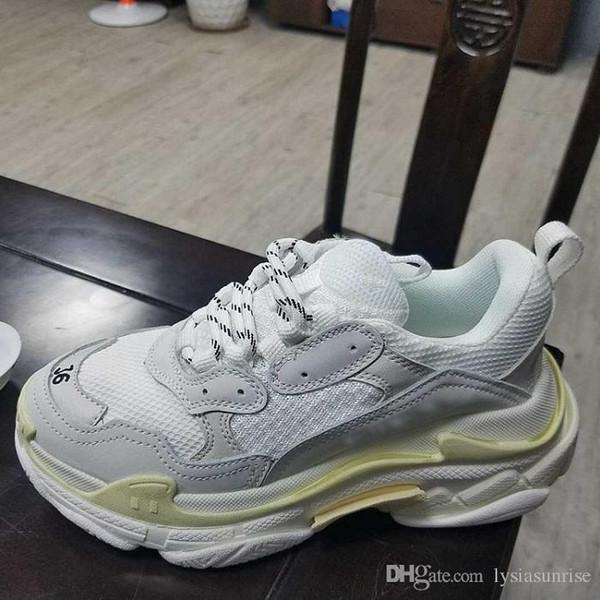bf823aa02 Ksg Yeni Varış Sıcak Moda Çiftleri 18FW Üçlü-S Ayakkabı Sneaker Üçlü S 3.0  Rahat