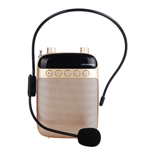 Little bee loudspeaker teacher dedicated speaker player headset guide teaching mini portable waist hanging class treasure